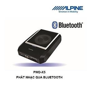 PWD-X5 Loa sub gầm ghế tích hợp Amply và bộ xử lý DSP thương hiệu Alpine chính hãng