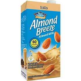 Sữa hạt hạnh nhân ALMOND BREEZE LATTE 946ml - Sản phẩm của TẬP ĐOÀN BLUE DIAMOND MỸ - Đứng đầu về sản lượng tiêu thụ tại Mỹ
