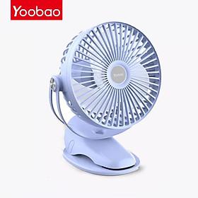 (Hàng chính hãng) Quạt kẹp mini Yoobao F04 MAX tích điện, pin sạc siêu bền, dung lượng khủng 10000mAh với 4 chế độ gió hoạt động liên tục từ 20 -60 giờ