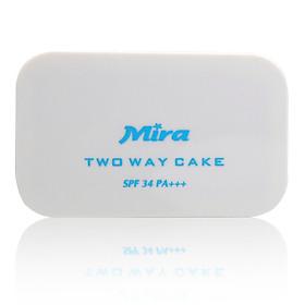 Phấn nén trang điểm siêu mịn Mira Two Way Cake Hàn Quốc 12g No.21 Cream Beige tặng kèm móc khoá-7