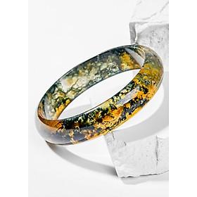 Vòng Tay Phong Thủy Đá Băng Ngọc Thủy Tảo Huyết Liền Khối (56mm) Mệnh Mộc, Hỏa Ngọc Quý Gemstones