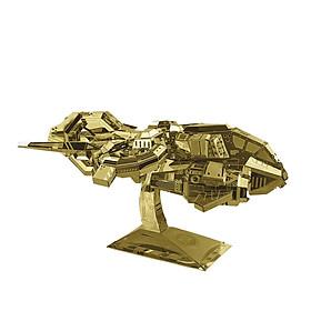 Đồ chơi lắp ghép mô hình kim loại MU Game StarCraft Phi thuyền tải súng Thunderhawk - Vàng