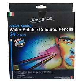 Bộ Bút Chì Màu Nước Renaissance Masterart Series (24 Màu)