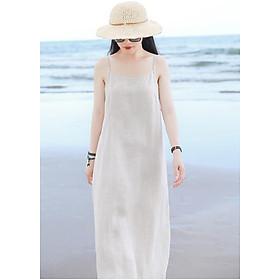 Đầm suông 2 dây đi biển LAHstore, chất thô mềm mát, thời trang phong cách Hàn Quốc