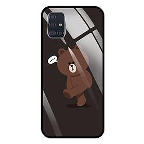 Ốp lưng Kính Cường Lực cho Samsung Galaxy A51 - 0085 GAUBROWN01 - Hàng Chính Hãng