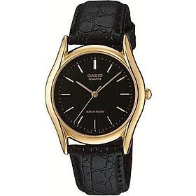 Casio Men's MTP1094Q-1A Black Leather Quartz Fashion Watch