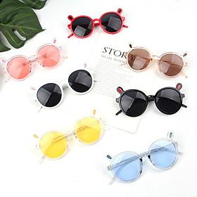 Mắt kính thời trang chống tia UV cho bé trai và bé gái hình tai thỏ ngộ nghĩnh, giao màu ngẫu nhiên+ Tặng kèm hộp đựng kính