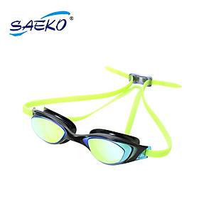 Kính bơi S67UV Falcon Mirror chính hãng Saeko - Kính tráng gương, bảo vệ mắt khỏi tia UV