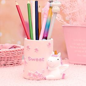 Hộp Cắm Bút Bằng Nhựa Để Bàn Ngựa Sweet