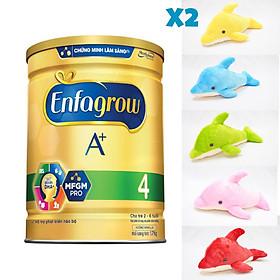 Combo 1 Lon Sữa Bột Enfagrow A+ 4 1.7kg Tặng Đồ Chơi 2 bé Cá Heo siêu cute màu ngẫu nhiên