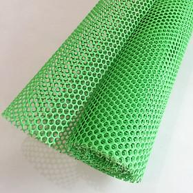Lưới nhựa mắt cáo màu xanh lá cây - khổ 1m