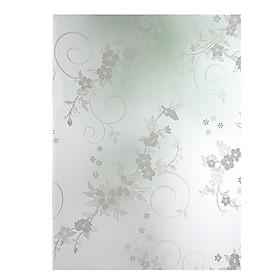 Miếng Dán Cửa Kính Trang Trí Hình Hoa Mận (45 x 100 cm)
