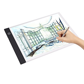 A4 LED Light Pad Tracer 3mm Ultra-Thin Drawing Board Copyboard Stepless Dimming USB Powered for Artist Animation