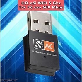 [CÓ SẴN] USB thu WIFI 5G tốc độ cao 600Mbps, nâng cấp mạng Gigabit cho máy bàn và laptop, Hàng nhập khẩu