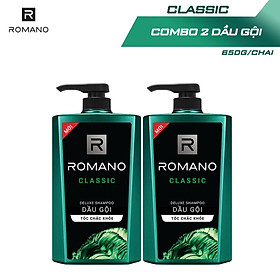 Combo 2 Dầu gội Romano hương nước hoa 650g/chai