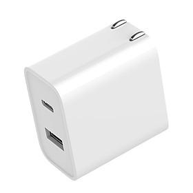 Adapter Sạc Nhanh Cổng USB-A Và USB-C Phích Cắm US Xiaomi (30W)