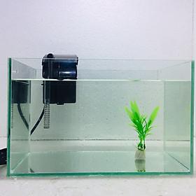 Bể cá mini để bàn 30x17x17cm + Lọc nước