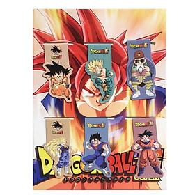 Bộ 6 Đánh Dấu Sách Bookmark Nam Châm Dragon Ball - 7 Viên Ngọc Rồng