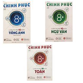 Combo Chinh phục 8+ Luyện thi vào 10 môn Toán , Tiếng anh ,Văn theo chủ đề
