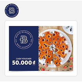 Paris Baguette - Phiếu quà tặng 50k áp dụng tại các chi nhánh