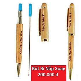 Bút gỗ khắc tên theo yêu cầu