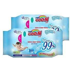 Combo Khăn Ướt Goo.n (55 Tờ x 2 Gói)