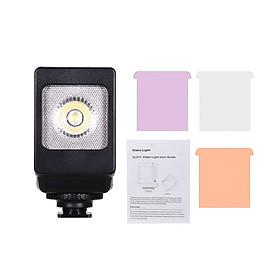 Đèn LED Mini Với Bộ Lọc Màu Dành Cho Máy Ảnh Canon Nikon Sony DSLR (3 Bộ) (3W)