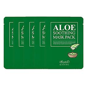 Combo 5 Mặt nạ dưỡng ẩm cho da nhạy cảm, da mụn Benton Aloe Soothing Mask Pack 23g x5