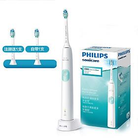 Bàn Chải Đánh Răng Điện 2 Mức Cho Người Lớn Philips HX6807 / 02- Xanh Bạc Hà - Chăm sóc răng -Trắng