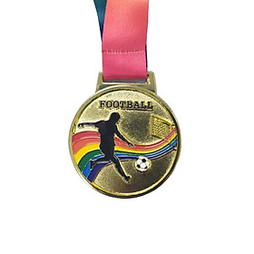 Huy chương bóng đá dây 7 màu Sportslink