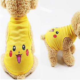 áo chó mèo cao cấp kiểu áo thun pokemon mát mẻ