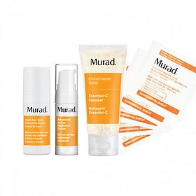 Bộ Kit giảm thâm nám và làm trắng da Murad (Serum Rapid Age Spot Correcting Serum 10ml + Advanced Active Radiance Serum 5ml+ srm Essential-C Cleanser 45ml + Kcn City Skin Age Defense Broad Spectrum SPF 50 PA++++ 5ml)