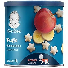 Bánh Ăn Dặm Gerber Puffs Chuối Táo 49g