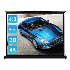 40-inch HD Projection Screen Manual Pull Up Folding Tabletop Projecting Screen Aspect Ratio 4:3 Portable Projection