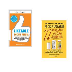 Combo 2 cuốn sách:  22 Quy Luật Bất Biến Trong Xây Dựng Thương Hiệu + Likeable Social Media-Bí Quyết Làm Hài Lòng Khách Hàng