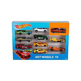 Bộ 10 siêu xe Hot Wheels 54886 ( giao màu ngẫu nhiên)