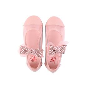 Giày búp bê bé gái Crown Space Crown UK Princess Ballerina CRUK3114 - Màu hồng
