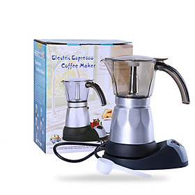 Mini Home Kitchen Electric Heat Coffee Maker Coffee Machine Moka Pot for 5 People