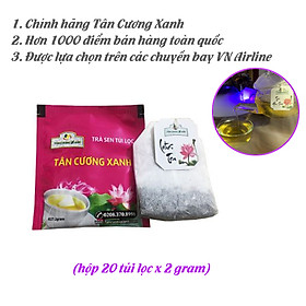 Trà sen túi lọc Tân Cương Xanh - Trà ướp hương sen, hương thơm đậm đà, hậu vị thơm, tiêu chuẩn an toàn thực phẩm