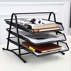 Dụng cụ văn phòng, giá để hồ sơ tài liệu,sách vở đa năng khung kim loại chắc chắn MẪU MỚI K3T - 3 TẦNG ( giao màu ngẫu nhiên)