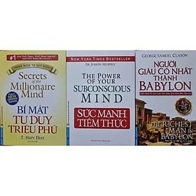 Combo 3 Cuốn Sức Mạnh Tiềm Thức - Bí Mật Tư Duy Triệu Phú - Người Giàu Có Nhất Thành Babylon (Tái Bản)