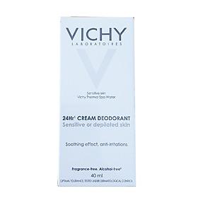 Kem khử mùi, dưỡng mịn da Vichy 24-Hour Deodorant Cream cho da nhạy cảm (30mL)