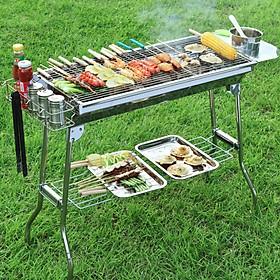 Bếp nướng than hoa BBQ ngoài trời chất liệu Inox cao cấp
