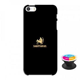 Ốp lưng nhựa dẻo dành cho iPhone 5S tặng popsocket in logo iCase - in hình Sagitaurius