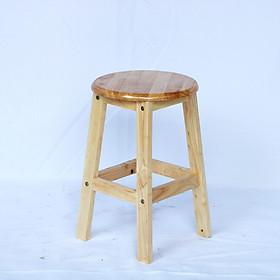 Ghế đôn gỗ mặt tròn tháo ráp cao 45 cm