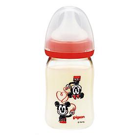Bình Sữa Hình Vẽ Mickey Pigeon (160ml) - Hàng Nhập Khẩu Từ Nhật Bản