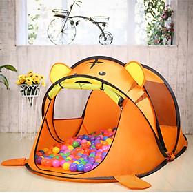 Lều chơi cho bé hình thú màu cam