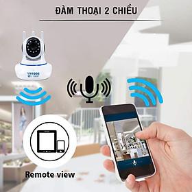 (Tặng kèm thẻ nhớ 32G) Camera wifi trong nhà Yoosee Z02S 2.0 Full HD, 3 râu, xoay 360 độ , tương tác 2 chiều, hỗ trợ thẻ nhớ lên đến 128G, cảnh báo chuyển động – Hàng nhập khẩu