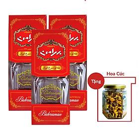 Nhụy Hoa Nghệ Tây Saffron Bahraman Combo 3 hộp 1gram/hộp Tặng hoa cúc 8Gram