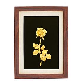 Tranh Hoa Hồng mạ vàng 24K - Quà tặng vợ, người yêu, mẹ,cô giáo, sếp và đồng nghiệp nữ cao cấp, độc đáo nhân ngày 8/3, 20/10, sinh nhật